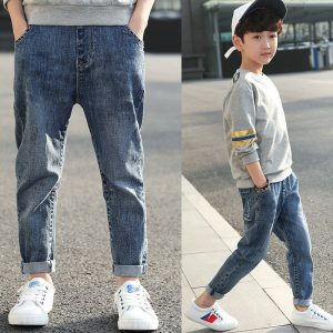 quần jean bó bé trai