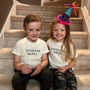 Áo thun trẻ em happy birthday